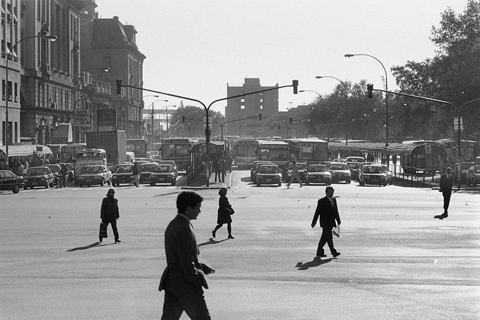 Peatones en Retiro