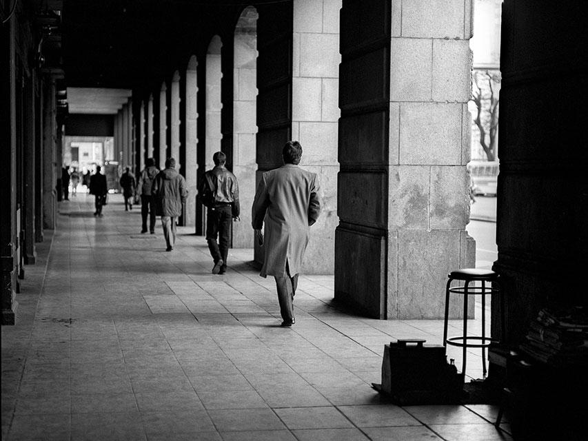 Peatones en la Recova